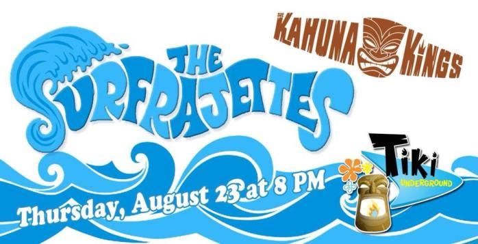 Surfrajettes August 23 concert