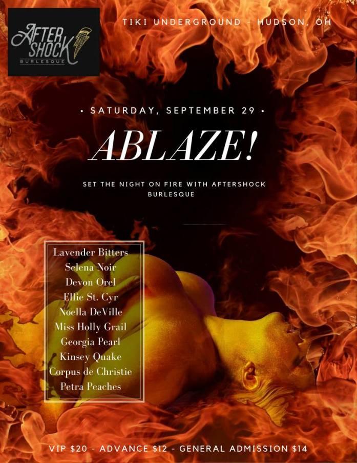 Aftershock Burlesque presents Ablaze poster