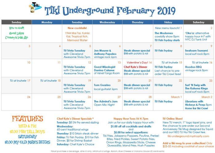 TU Feb 2019 Specials