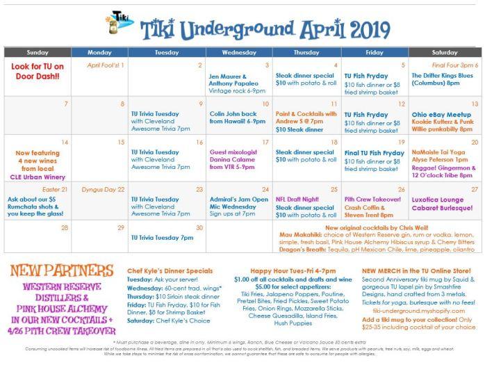 TU April 2019 Specials