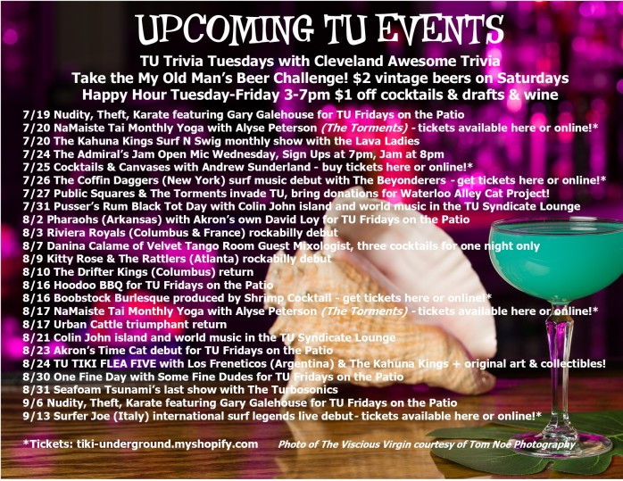 TU Events Flyer July 2019