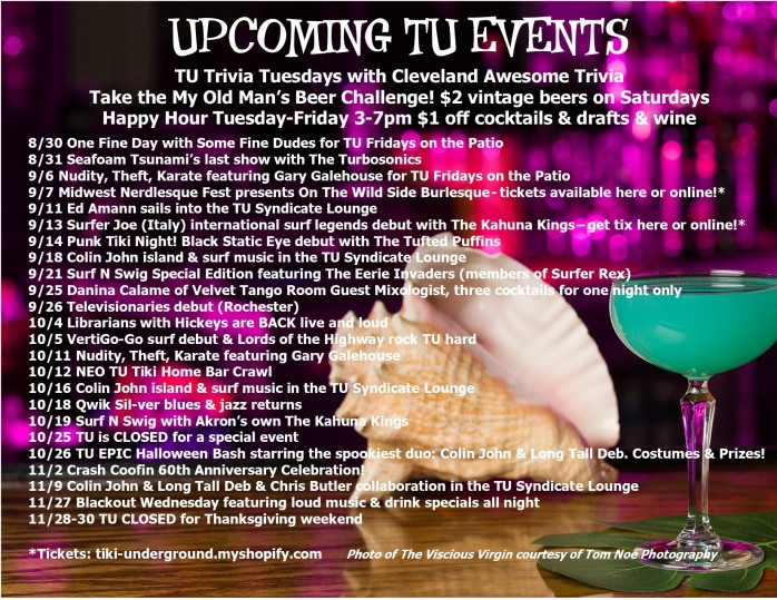 TU Events Flyer August 2019