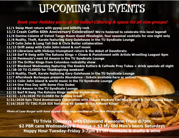 TU Events Flyer November 2019