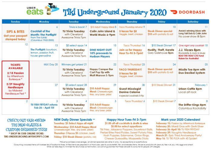 Tiki Underground January 2020