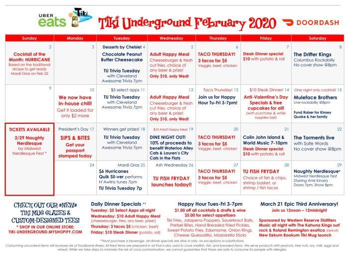 Feburary 2020 Specials